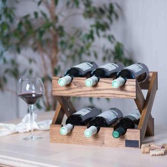 Подставка для вина. Деревянный стеллаж для бутылок Lacrima.