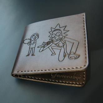 Мужское портмоне из натуральной кожи. Мужской кошелек