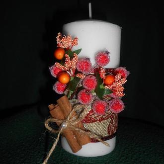 свеча декорированная