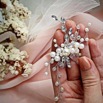 Свадебное украшение для волос, шпилька в прическу, украшения в прическу на выпускной