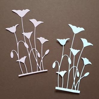 Картонная вырубка Цветы, Высечка для скрапбукинга