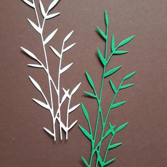 Вырубка для скрапбукинга Бамбук, декор для скрапбукинга