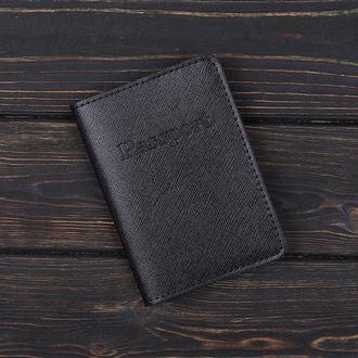 Обложка на паспорт v.1.0. Fisher Gifts BUSSINES портофино черный (кожа)