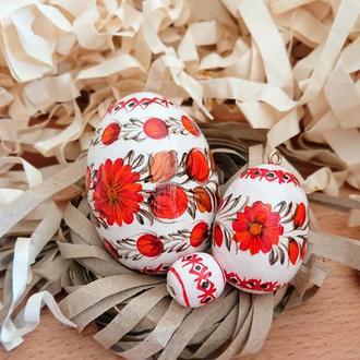 Подарочный пасхальный набор -  яйцо-писанка и яйцо-подвеска