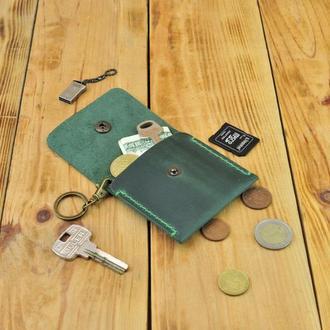 Стильная кожаная монетница - удобный аксессуар на каждый день