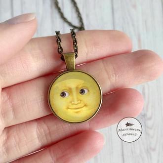 Кулон Луна желтая