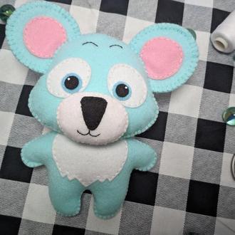 Мягкая игрушка Коала из фетра