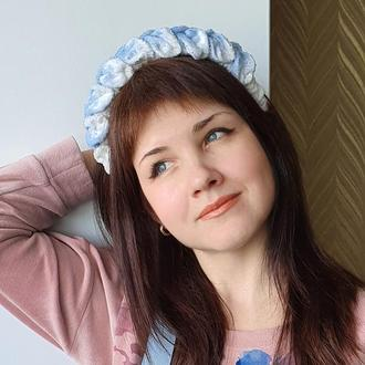 Обруч ободок для волос с бархатной косой