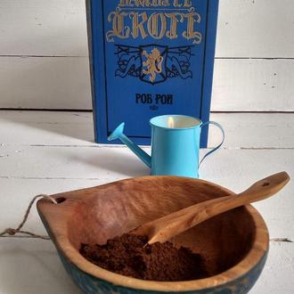 Кукса - миска, тарілка. Посуд з дерева. Wooden bowl.
