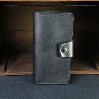 Кожаный кошелек Нова, кожа итальянский краст, цвет Черный