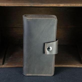 Кожаный кошелек Нова, кожа Crazy Horse, цвет Шоколад
