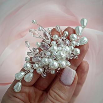 Свадебное украшение для волос, заколка в прическу, украшения в прическу на выпускной, гребешок