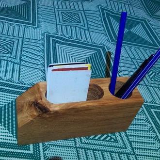 Підставка для ручок, візиток, органайзер дерев'яний, подставка для ручек, органайзер
