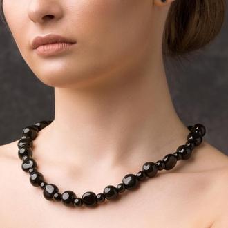 """Черное ожерелье из керамики """"Alice"""""""