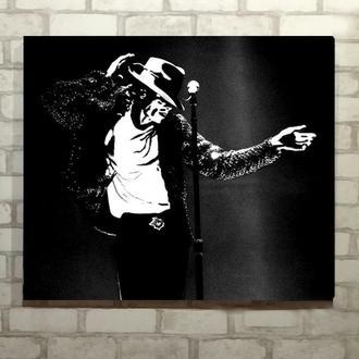 картина маслом Джексон поп арт 50*60 на заказ
