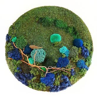 Картина панно стабилизированный мох