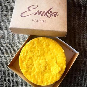Твердий шампунь для сухого волосся Обліпиха-Апельсин з протеїнами шовку та кератином. Твердий шампунь спі