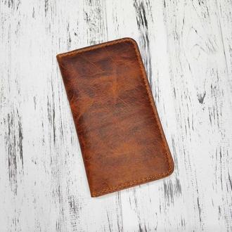 Бумажник Stedley Ostrek 2 кожаный яловка коньяк