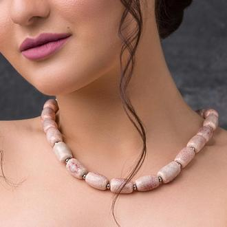 """Нежно розовое ожерелье из керамики """"Flamingo"""""""