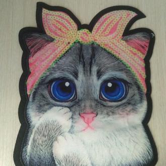 термоаппликация Кошка солоха