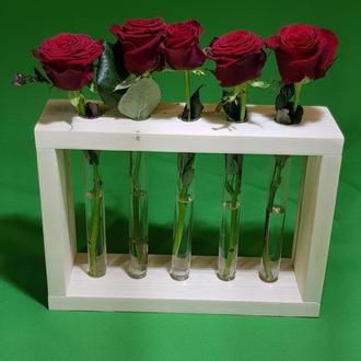 Ваза для квітів з пробірок