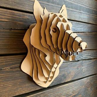 Трофей голова Волк  из фанеры