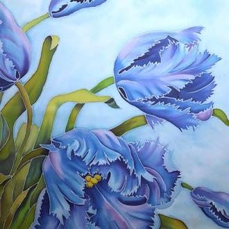 платок тюльпаны