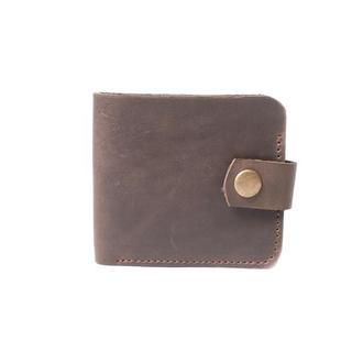 Небольшой кожаный кошелек ручной работы. 08004/коричневый