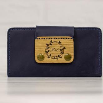 Женский кошелек классический длинный, большой кошелек для женщины из кожи