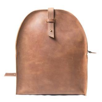 Кожаный мини-рюкзак. 01002/коньяк