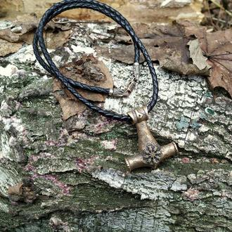 Молот Тора из Итальянской бронзы на шнурке 4 мм