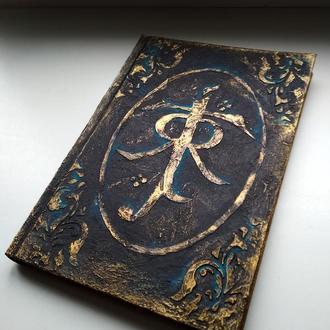 """Старинный блокнот с моногаммой Tolkien, для фанатов """"Властелин колец"""", """"Хоббит"""" A5"""