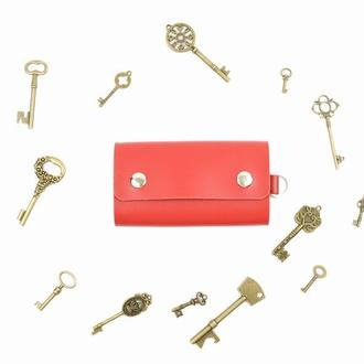 Кожаная ключница, чехол для ключей, ключница женская