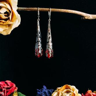 Готические хрустальные сережки «Gothic Spire»