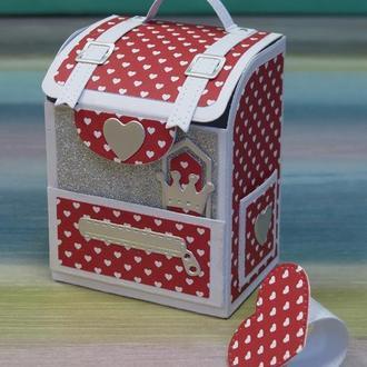 Открытка-рюкзак для денег