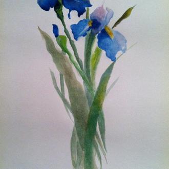 """Картина натюрморт """"Цветы Ирисы"""""""