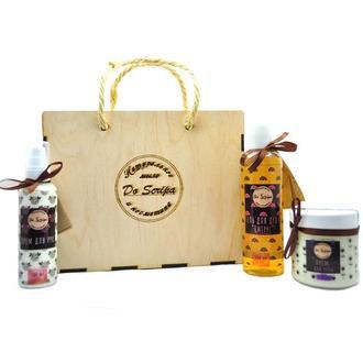 Подарочная сумка-BOX Гель для душа Крем для тела Крем для рук Do scripa