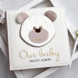 Детский альбом для мальчика, Детский альбом с мишкой, Альбом для новорожденного