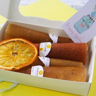 Набор пастилы 4 вкуса + фрипс / Пастила: персик, абрикос, банана, яблоко