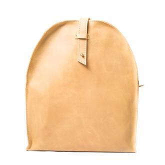 Кожаный мини-рюкзак. 01002/желтый