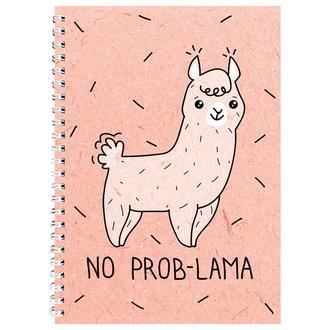 Блокнот No prob-lama розовый