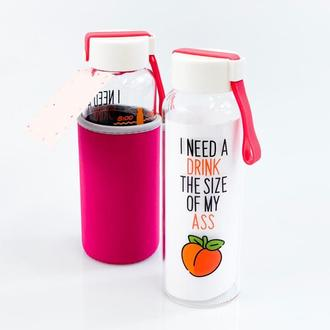 Бутылка Персик 450 мл розовый