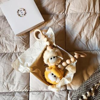 Грызунок детский овечка подвеска для бэби жим