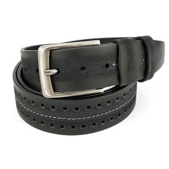 Ремень мужской кожаный SF-404 black (4 см)