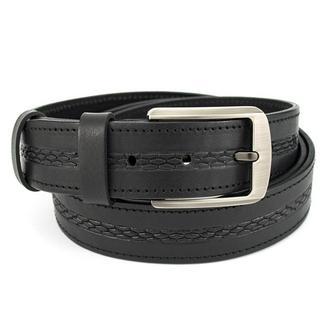 Ремень мужской кожаный SF-351 black (3,5 см)