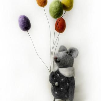 Мышь , девочка - мышь , Интерьерная игрушка
