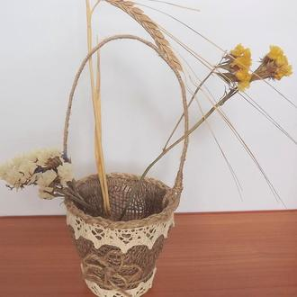 корзинка для цветов , фруктов и пасхальных яиц
