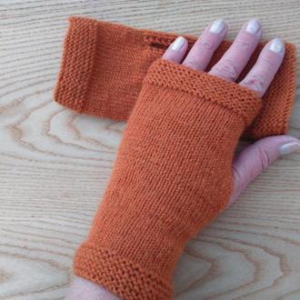 Женские митенки - перчатки без пальцев