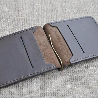 Кожаный зажим для денег ручной работы Z02-450
