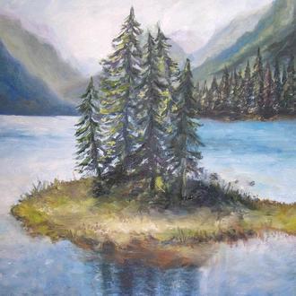 """Картина """"Озеро в горах"""""""